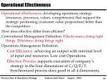 operational effectiveness