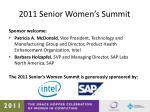 2011 senior women s summit1