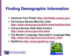 finding demographic information