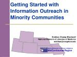 getting started with information outreach in minority communities