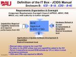 definition of the it box jcids manual enclosure b icd b 18 cdd b 46