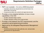 requirements definition packages rdps