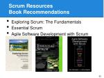 scrum resources book recommendations