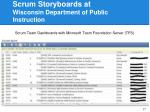 scrum storyboards at wisconsin department of public instruction