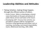 leadership abilities and attitudes