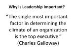 why is leadership important