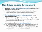 plan driven or agile development2