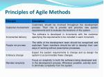 principles of agile methods