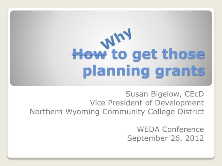 how to get those planning grants n.