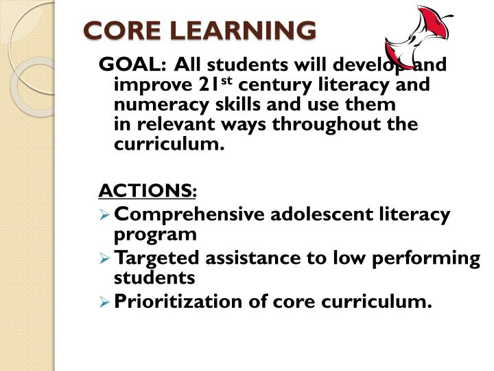 CORE LEARNING