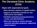 the cleveland clinic academy cca1