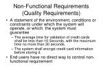 non functional requirements quality requirements