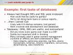 example first taste of databases