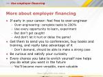 more about employer financing