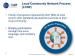 local community network process lcnp