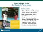 creating opportunity our strategic focus areas