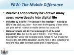 pew the mobile difference