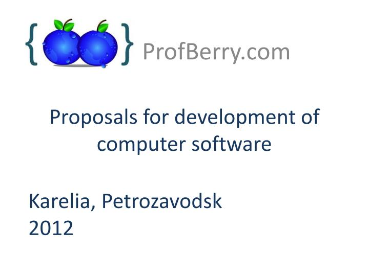 proposals for development of computer software n.