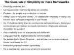 the question of simplicity in these frameworks