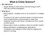 what is crime science