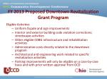 fy 2013 proposed downtown revitalization grant program2