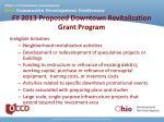 fy 2013 proposed downtown revitalization grant program3