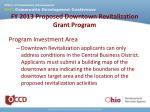 fy 2013 proposed downtown revitalization grant program4