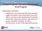 fy 2013 proposed downtown revitalization grant program5