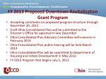 fy 2013 proposed downtown revitalization grant program9