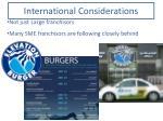 international considerations