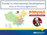 trends in international development area or province agreements
