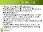 governance fraud and corruption