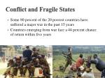 conflict and fragile states