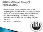 international finance corparation