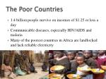 the poor countries