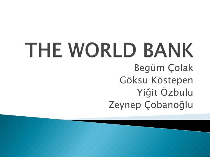 the world bank n.