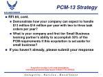 pcm 13 strategy2