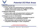 potential oci risk areas