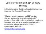 core curriculum and 21 st century themes