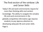the final section of the rainbow life and career skills