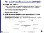agi data portal enhancements 2009 2010