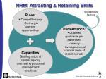hrm attracting retaining skills