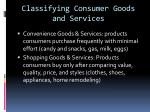 classifying consumer goods and services