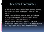 key brand categories