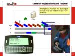 container registration by the tallyman