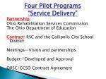 four pilot programs service delivery
