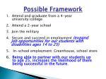 possible framework