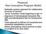 proposal new innovative program model