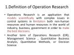 1 definition of operation research