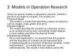 3 models in operation research